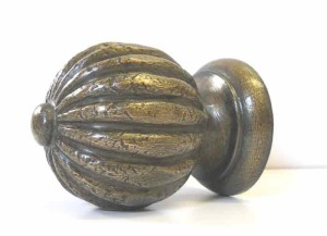 paint finished bronze-look finial