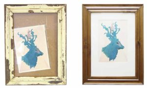 picture frame revamp before & after